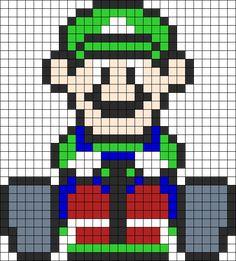 Luigi Mario Kart Perler Perler Bead Pattern | Bead Sprites | Characters Fuse Bead Patterns