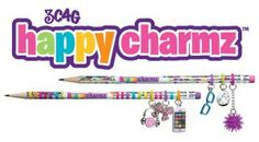 """Trendy Pencils and Accessories for Back to School Scribble Stuff made by The Board Dudes and Happy Charmz Make Pencils Happier™ with collectable, tradeable, mix-and-matchable pencil charms!"""" Start your Happy Charmz collection"""