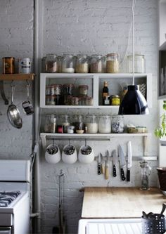 Brooklyn apartment: white kitchen