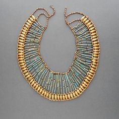 Egyptian Revival Necklace Huge Statement Piece by TheDeeps on Etsy, $180.00