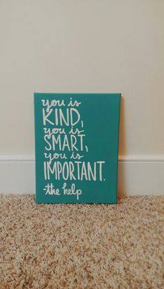 The Help Canvas Art | if only my penmanship were better! I'd love to do this one.