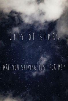city of stars lyrics , la la land
