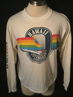 Vintage 1980's Tourist T-Shirt Hawaii Surfing Great Color Made in USA Thin and Soft by 413productions on Etsy