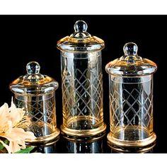 crystal canister sets   ... Set of 3 Byzantine Canisters - Byzantine canister, set of 3