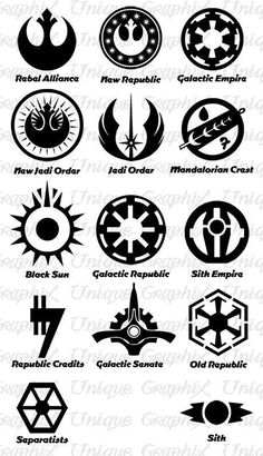 Star Wars Symbols and Meanings - Bing images                                                                                                                                                      Mais