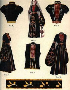 Circassian Estilo Fashion, Love Fashion, Fashion Outfits, Womens Fashion, Fashion Design, Folk Costume, Costumes, Period Outfit, Fashion Sketches