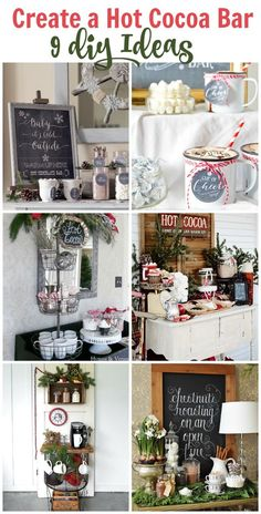 Here is a great list of Hot Cocoa Bar Inspiration ideas. It's soon going to be time to break out those hot drinks! Lets see how to do it in stye! So excited