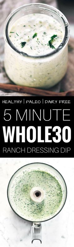 Paleo - Easy paleo ranch dressing recipe - It's The Best Selling Book For Getting Started With Paleo Whole Foods, Whole 30 Diet, Paleo Whole 30, Easy Whole 30 Recipes, Paleo Recipes Easy, Whole Food Recipes, Good Easy Dinner Recipes, Whole 30 Crockpot Recipes, Diet Recipes