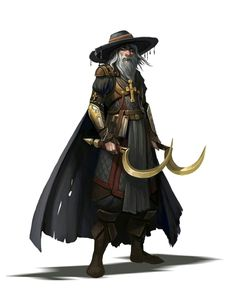 Old Human Male Inquisitor - Pathfinder PFRPG DND D&D d20 fantasy