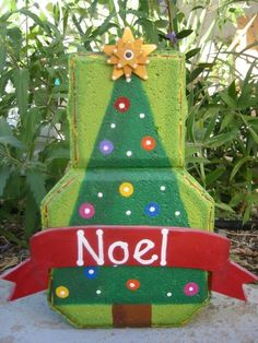 Noel Christmas Tree Patio Person by SunburstOutdoorDecor on Etsy, $20.00