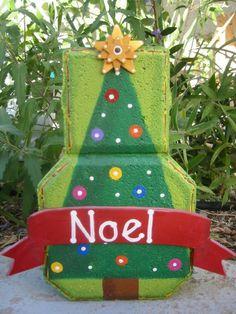 Noel Christmas Tree Patio Person by SunburstOutdoorDecor on Etsy, $20.00