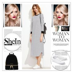 """""""shein"""" by velci-987 ❤ liked on Polyvore featuring Lacoste, MICHAEL Michael Kors, Maybelline and Gucci"""