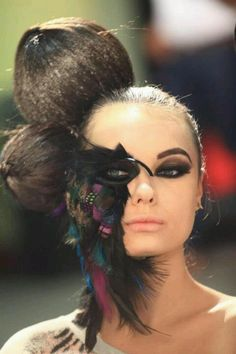 Bird make up. Fantasy make up