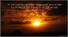Yahweh/Yeshua is our light!