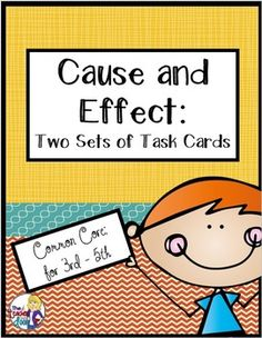 64 cause and effect task cards! One set has pictures and the other asks students to read a phrase. Focused practice for 3rd - 5th graders! $