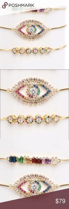 Shop Women's size OS Bracelets at a discounted price at Poshmark. Jewelry Bracelets, Bangles, Color Shampoo, Adjustable Bracelet, 18k Gold, Plating, Women Jewelry, Rainbow, Cosmetics