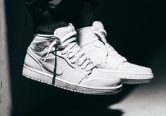 Air Jordan 1 Mid White & Black post image