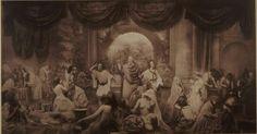 A primeira fotomontagem, 1857. Através de 32 imagens criando uma só.