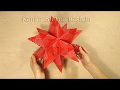 Sterne falten: Bascetta Stern basteln - Origami