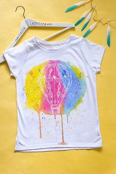 Hand painted Winnie The Pooh T-shirt White t-shirt watercolor effect t-shirt Paint Shirts, T Shirt Painting, Denim Art, Painted Clothes, Watercolor Effects, Diy Shirt, Cool Shirts, Winnie The Pooh, Hand Painted