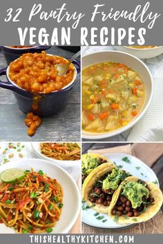 32 Vegan Pantry Recipes from Pantry Staples This Healthy Kitchen Low Calorie Recipes, Vegan Recipes, Non Perishable Food Items, Meal Ideas, Dinner Ideas, Vegan Dinners, Easy Meals, Weeknight Meals, Pantry