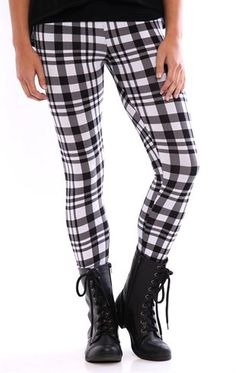 Deb Shops Plaid #Leggings $12.00