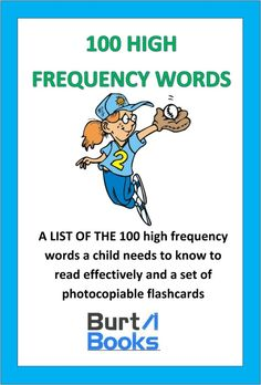 The 100 words that your child should know to be an effective reader and speller.