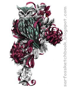 Owl Tattoo Design 01 by Sarfo - Inspiration