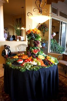 Fruit Display My Daughter And I Made For A Friends 70th Birthday Party