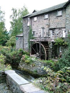 Old Bark Mill, Ambleside, the Lake District, UK Shared by Motorcycle Fairings - Motocc Cumbria, Ambleside Lake District, Architecture Antique, England And Scotland, England Uk, Water Mill, English Countryside, Le Moulin, The Places Youll Go