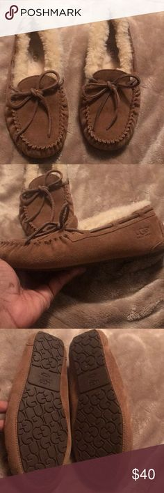 Kids Ugg slipper moccasins Excellent condition used 1/2 times Smoke free pet free home Ships same or next day UGG Shoes Moccasins