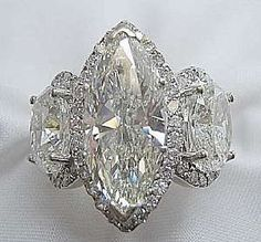 Diamond Marquise Ring. Breathtaking! See the Complete Outfit and Description on this board - Gabrielle