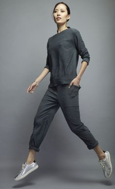 Meryl Pant,  this combo fabric pant is easy-to-wear and casual   http://skinworldwideshop.com/collections/clothing/products/meryl-pant