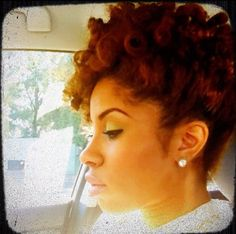 gorgeous updo-- make up is rocking
