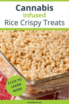 How to Make Cannabis Infused Rice Crispy Treats Peanut Butter Crispy Treats, Homemade Rice Crispy Treats, Chocolate Rice Crispy Treats, Rice Krispy Treats Recipe, Healthy Peanut Butter, Rice Krispie Treats, Homemade Sweets, Blueberry Turnovers, Weed Recipes