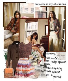 """""""Alexa Chung.   InStyle USA April 2017 Issue."""" by sarahutcherson ❤ liked on Polyvore featuring Vellum, Elizabeth and James, Valentino, Streamline NYC and Marc Jacobs"""