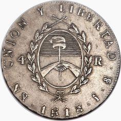 8 reales 1813   Plata - Peso 27 gr - Ley 10 Dineros 18 granos - Canto laureado - Ceca Potosí   Módulo 40 mm - Reverso medalla - Ens...