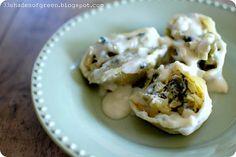 artichoke and spinach stuffed shells