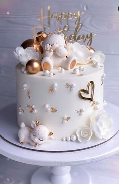Beautiful Birthday Cakes, Beautiful Cakes, Amazing Cakes, Pretty Cakes, Cute Cakes, Baby Birthday Cakes, Birthday Cake Decorating, Birthday Cake Designs, Drip Cakes