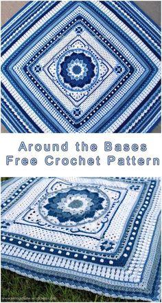 Around the Bases Blanket #FreeCrochet Pattern #CrochetEdging of Blanket Throw   size: any   Written   US Terms Level: upper beginneryarn: using any yarn Hook: anyAuthor: keitopalette