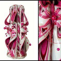 Bougie sculptée (20cm),bougie artisanale,bougie fait main,bougie décorative