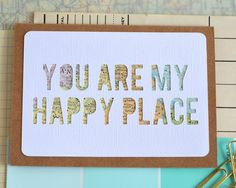 Map You Are My Happy Place Vintage Card