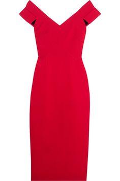 ROLAND MOURET Grendon Wool-Crepe Dress. #rolandmouret #cloth #dresses