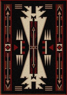 Horse Thieves Rug (Black) - Country Rug - Lodge Rug 3x4ft    $105  http://www.rusticfurnituredecor.com/country-rugs-horse-thieves-black-ad.html