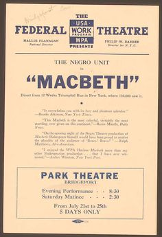 On July after a five-night run, the audience at the Park Theatre in Bridgeport, Connecticut, applauded the closing night performance of Macbeth, produced by John Houseman and directed by Orson Welles wem John Houseman, Free Films Online, Free Textbooks, Drama Teacher, Today In History, Orson Welles, Free Education, New Times, Language Lessons
