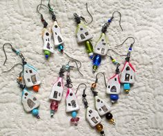 Teeny Tiny House Earrings by LolliePatchouli, via Flickr