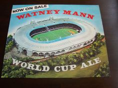 World Cup Willie Watney Mann 1966 rare football Wembley vintage advertising card