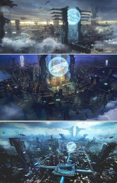 by wanbao Featured on Cyrail: Inspiring artworks that make your day better Cyberpunk Aesthetic, Cyberpunk City, Arte Cyberpunk, Futuristic City, Futuristic Architecture, Fantasy City, Fantasy Places, Fantasy World, Fantasy Art Landscapes