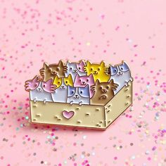#Repost @erikbuikema Life is like a box of kittens or at least it should be this bit bigger gold enamel pin