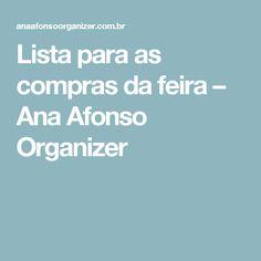 Lista para as compras da feira – Ana Afonso Organizer